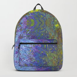 Yellow Spark Flower standing out in a Festival Celebration by annmariescreations Backpack
