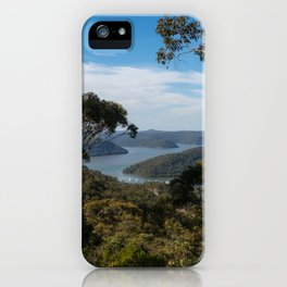 View of Hawkesbury River from Muogamarra Reserve, Sydney iPhone Case
