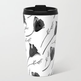 California Poppy Pattern Travel Mug