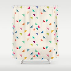 Seamless geometric pattern with triangles Shower Curtain