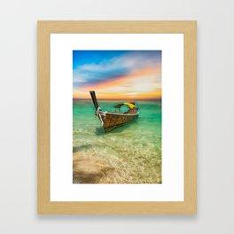Longboat Sunset Thailand Framed Art Print