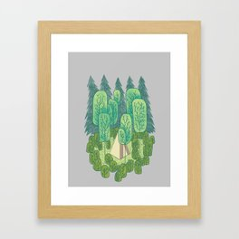 Sleeping Amongst Trees Framed Art Print
