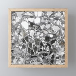 Silver Mirrored Mosaic Framed Mini Art Print