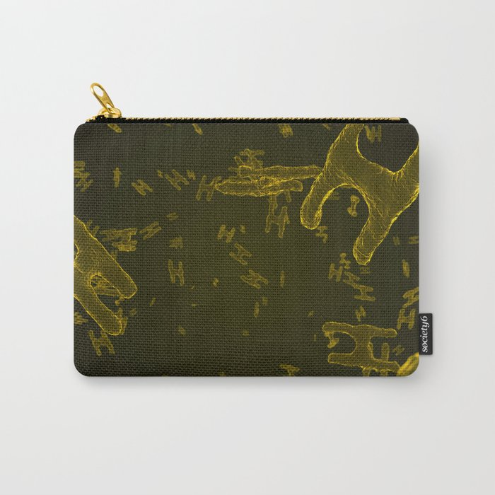 Abstract yellow virus cells Carry-All Pouch