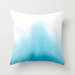 Turquoise Watercolor Throw Pillow