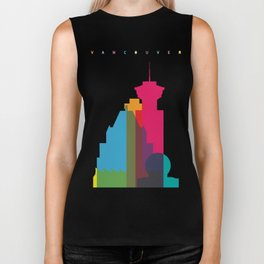 Shapes of Vancouver. Accurate to scale. Biker Tank