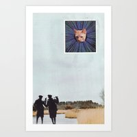 Gavin the lesser Warp Feline. Art Print