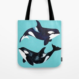 Orca Twins Tote Bag