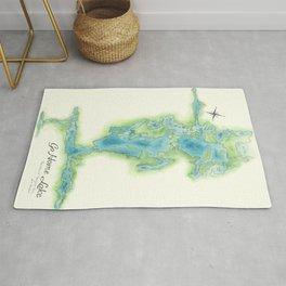 Go Home Lake - Nature Map Rug