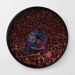 wanderer in the night Wall Clock