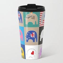 Elephant Love Collage Travel Mug