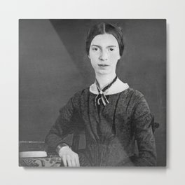 Emily Dickinson Portrait Metal Print