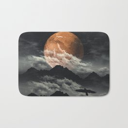 Spaces III - Mars above mountains Bath Mat
