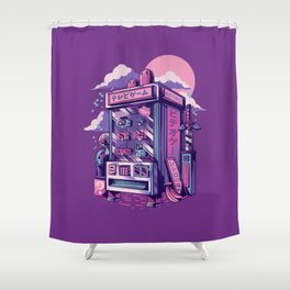 Retro gaming machine Shower Curtain