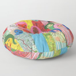 All the People Floor Pillow