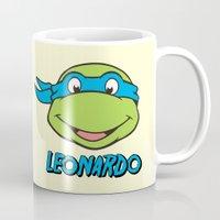 leonardo dicaprio Mugs featuring Leonardo by husavendaczek