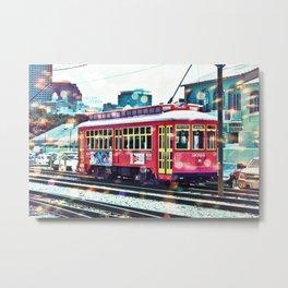 Bokeh Streetcar Metal Print