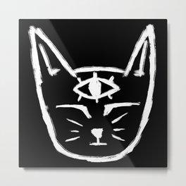 Third Eye Cat Metal Print