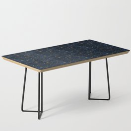 N48 - Indigo dark blue night space with shining stars by Arteresting Coffee Table