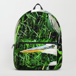Heron On Airline Trails Backpack