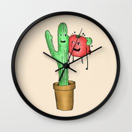 Prickly Pair Wall Clock