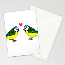Bluetits in Love Stationery Cards