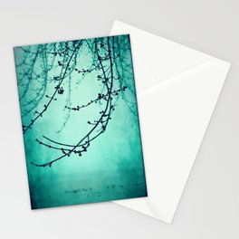 Fog of Green Stationery Cards