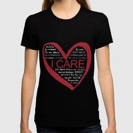 I CARE (WHT TEXT) T-shirt