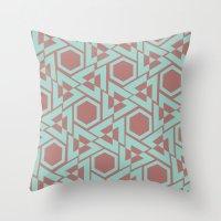 hexagon Throw Pillows featuring Hexagon by Jerod Barker