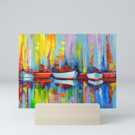 Sailboats berth Mini Art Print