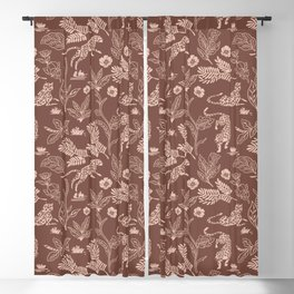 Animals in the jungle pink I Blackout Curtain