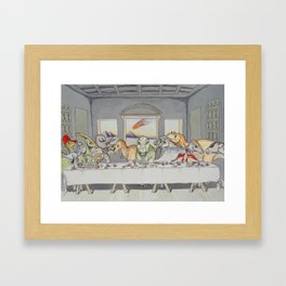 Dinosaur Last Supper Framed Art Print
