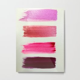 shiny pink  girly swatches Metal Print