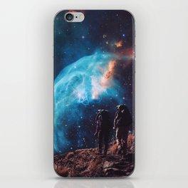 Hiking the universe iPhone Skin