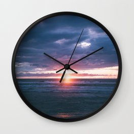 Coastal Sunset II Wall Clock