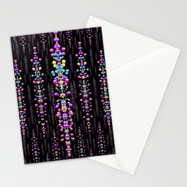 rainbow asteroid pearls in the wonderful atmosphere Stationery Cards