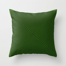 Squared Spiral Throw Pillow