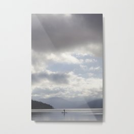 Early Morning Paddler on Vancouver Island Metal Print