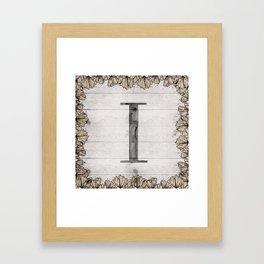 Neutral Monogram I Framed Art Print