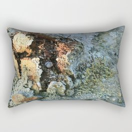 Growths on the Rocks by Geysers in Iceland Rectangular Pillow