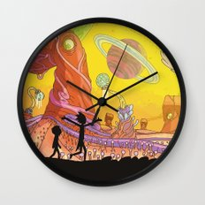 Rick and Morty - Silhouette Wall Clock