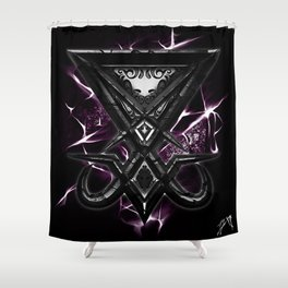 Luciferi sigil Shower Curtain