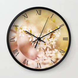 Bloom Cerasus cherry tree Wall Clock