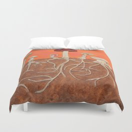 Laughing Shrooms Duvet Cover