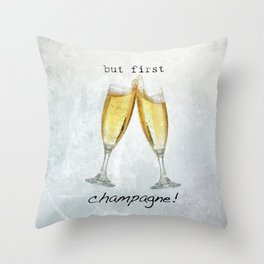 Champagne! Throw Pillow