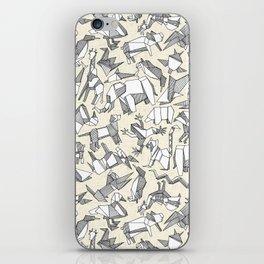 origami animal ditsy pearl iPhone Skin