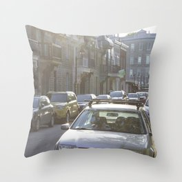 Montreal's Plateau Mont-Royal, one summer afternoon Throw Pillow