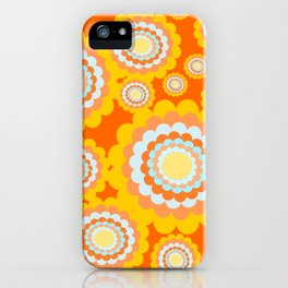 70s floral pattern iPhone Case
