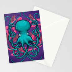 Octupus and Coral Stationery Cards