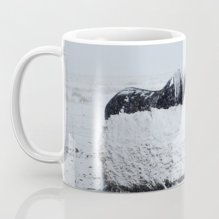 A horses snow day Coffee Mug